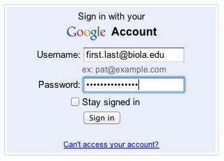 account sign service