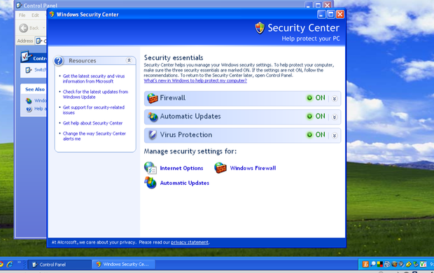 Windows Security Center Image