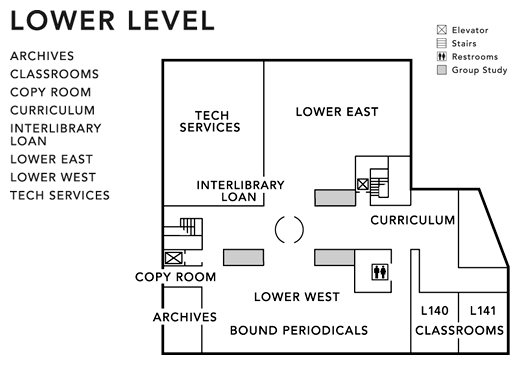 Lower Level Floor Map