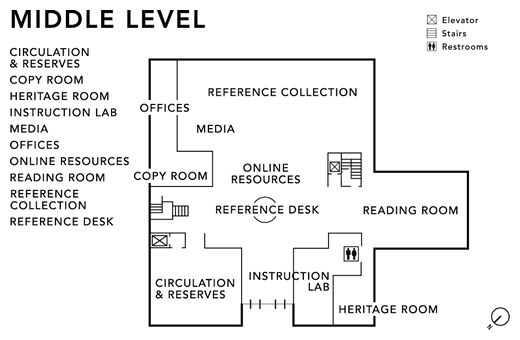 Middle Level Floor Map