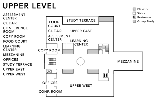 Upper Level Floor Map