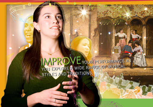 Improve your performance as you explore a wide range of musical styles and traditions