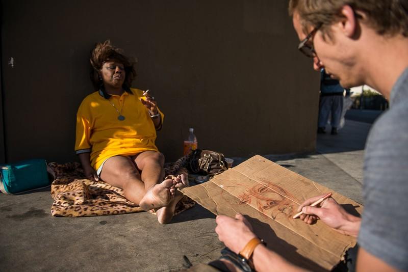 biola student u2019s art exhibit restores dignity to homeless