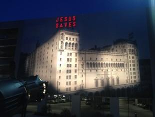 Biola Unveils Replica Of Iconic Los Angeles Jesus Saves Sign